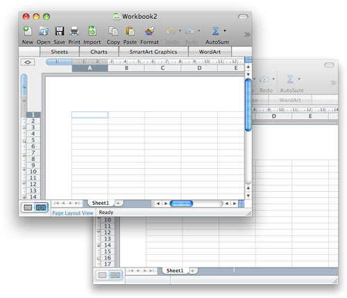 Excel scroll bars in inactive window