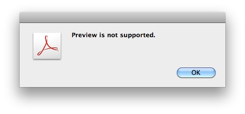 Acrobat dialog box being unhelpful as ever