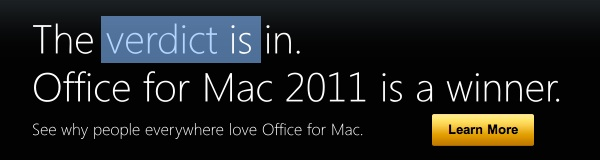 Screenshot of Microsoft's Mac site