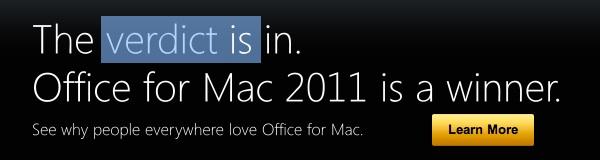 Screenshot of Microsoft's Mac site